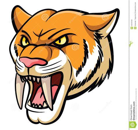 Saber Tooth Tiger Mascot