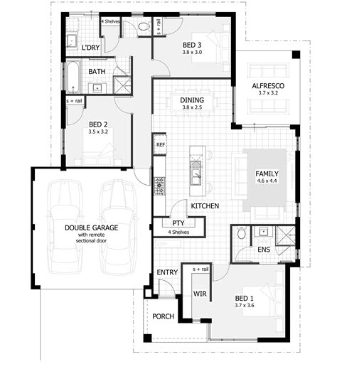 3 Bedroom House Plans & Home Designs Celebration Homes