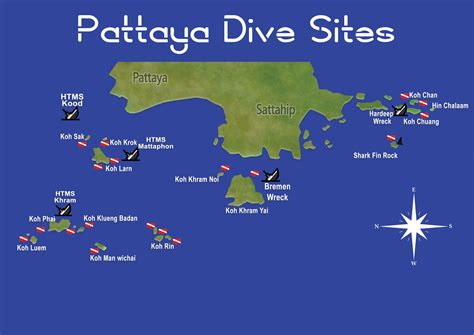Pattaya Dive Sites Seafari Dive Center Pattaya