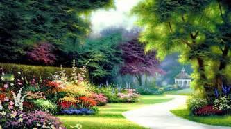 1920x1080 Pretty Garden Way Bird House desktop PC and Mac wallpaper