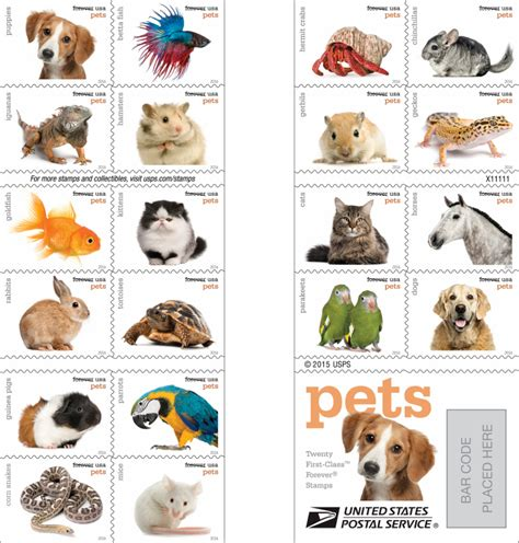 "New USPS ""Pets"" Stamps Feature 20 Different Animals! FACE Foundation"