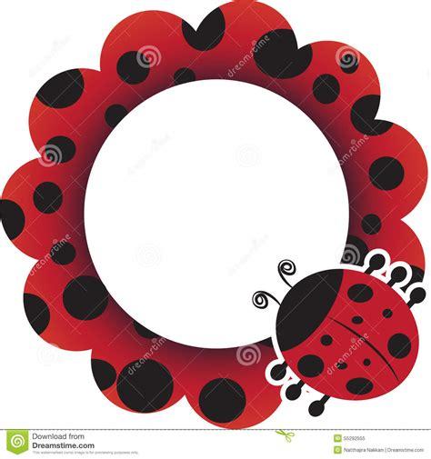 Ladybug frame stock vector Illustration of summer, garden