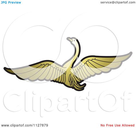 Swan Flying Illustration