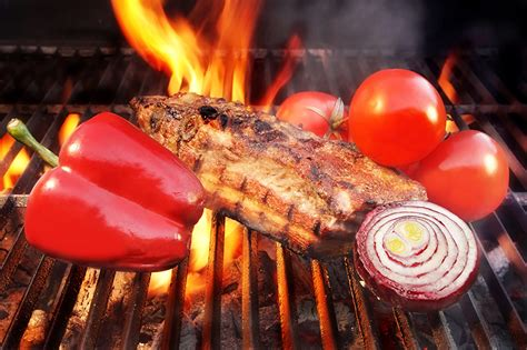 Wallpapers Onion Tomatoes Fire Food Pepper Meat products