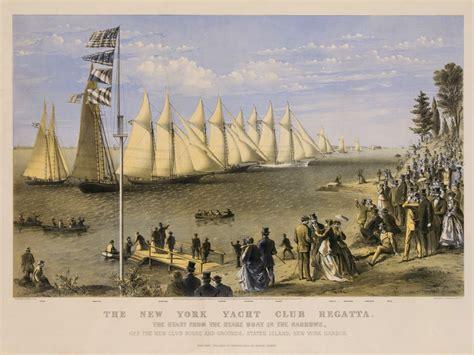 New York Yacht Club Regatta circa 1869