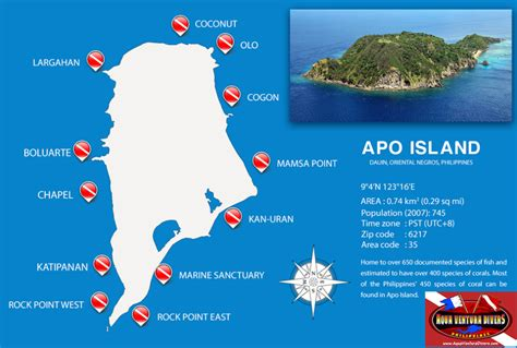 APO ISLAND dive mapfw Dive maps Pinterest Dumaguete