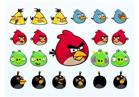 Angry Birds Characters Download Free Vector Art, Stock
