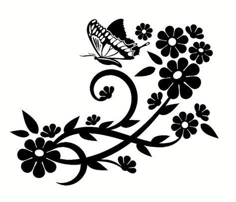 Beautiful Flower Wall Decals Decor — Home Designs Insight