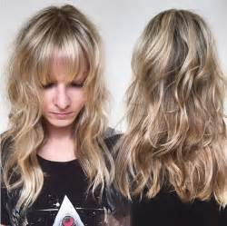 random photos long hairstyles with bangs and layers black women