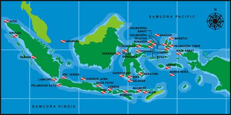 Map of Indonesian Dive Sites Dive Locations Pinterest
