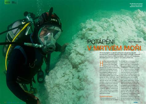 Diving the Dead Sea Article in the Czech Ocean Magazine