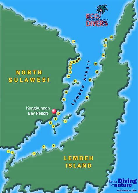Maps of Bunaken and Lembeh Strait, N Sulawesi, Indonesia
