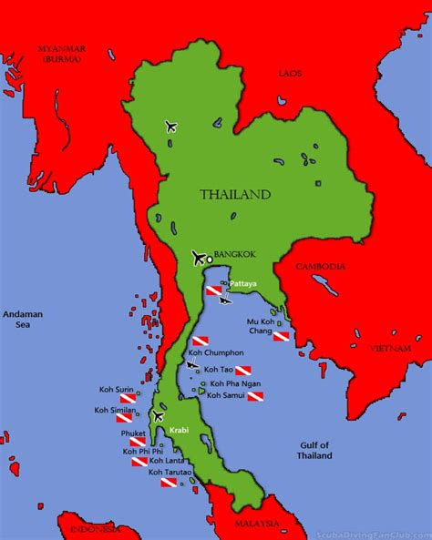 Diving in Thailand/ Information Dive Sites and Dive Centers