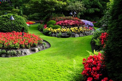 Nature Flowers Garden Landscape Wallpapers Hd Desktop And