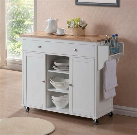 Furniture Tall White Wooden Kitchen Pantry Cabinet With