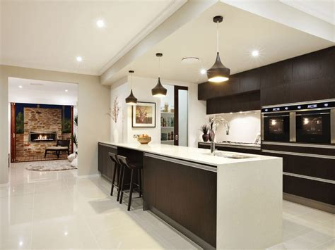 Modern galley kitchen design using granite Kitchen Photo