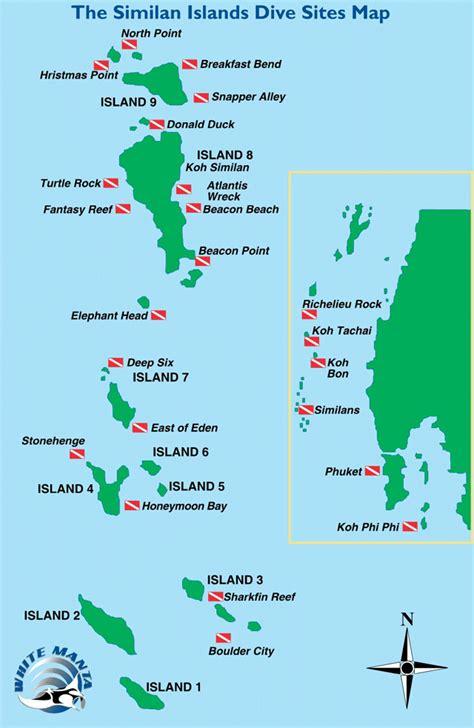 Similan Island dive site Thaïland map Pinterest Islands