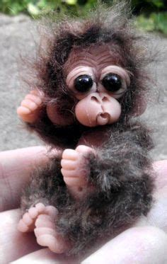 Reborn solid silicone chimpanzee monkey primate ape art