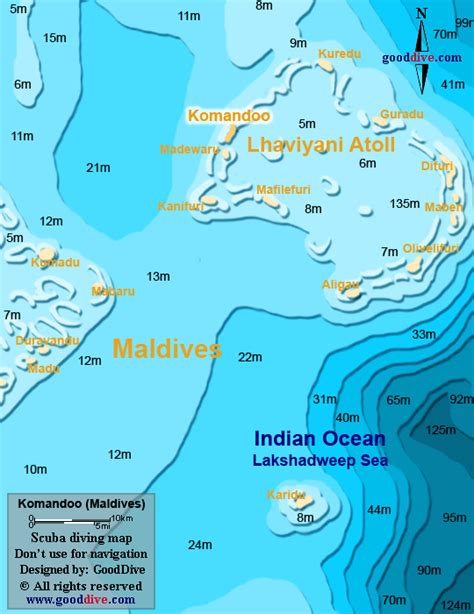 Map of Komandoo GoodDivecom