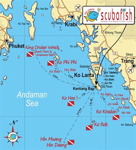 Lanta Dive Sites Top scuba diving sites in Lanta
