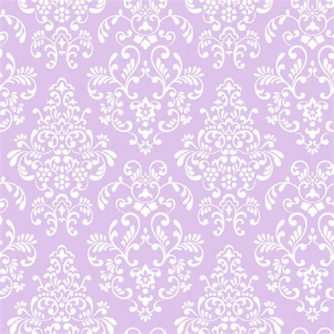 Lavender Delicate Document Damask Wallpaper