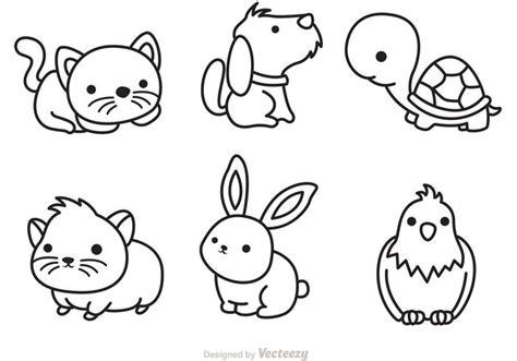 Cute Pets Outline Vector Download Free Vector Art, Stock