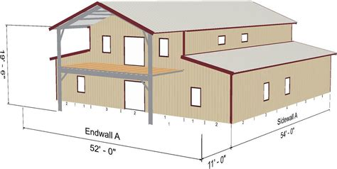 American Barn Style Home Shell Kit, 2560 sq ft with Porch