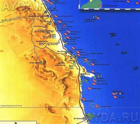 Marsa Alam Dive Sites Map (Egypt) AbriCoCotierfr