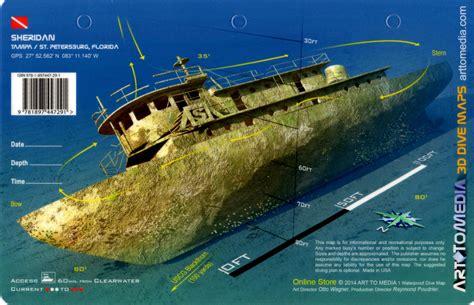 Sheridan Tug, Tampa 3D Dive Site Card