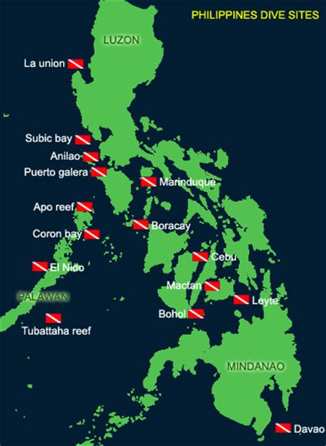 Asia Dive Travel Philippines Dive Sites Scuba Diving
