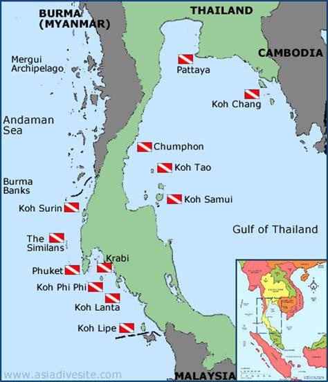 Asia Dive Site Thailand scuba dive site and dive map guide