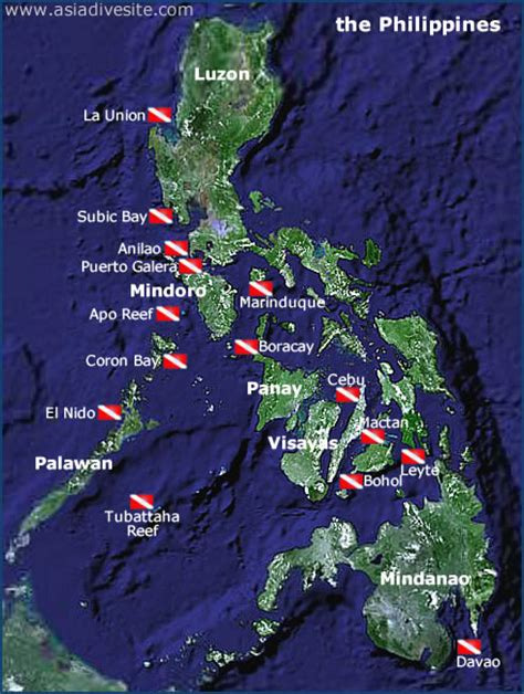 Asia Dive Site Philippines scuba dive site and dive map