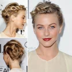 18 pretty updos for short hair